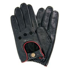 DENTS QUALITY MEN-S LEATHER DRIVING GLOVES - BLACK