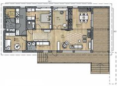 Lato Small House Design, Ideal Home, My House, House Plans, Sweet Home, Floor Plans, Layout, Flooring, How To Plan