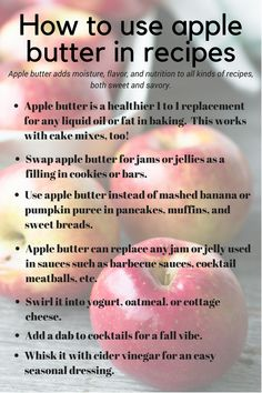 One Hour No Sugar Apple Butter ~ this healthy fruit spread has the flavor of fresh apples with just a hint of spice, and best of all, it's ready in an hour! Cooked Apples, Fresh Apples, Fresh Fruit, Baking Basics, Baking Tips, Apple Recipes, Holiday Recipes, Apple Butter Uses, Diabetic Cookie Recipes
