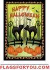 Halloween Cats House Flag Cat Garden, House Flags, Halloween Cat, Garden Flags, Bookends, Cats, Happy, Home Decor, Gatos