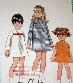 Vintage 1960s Sewing Pattern McCall's 9114 Child's