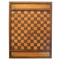 Game Board | From a unique collection of antique and modern game boards at http://www.1stdibs.com/furniture/folk-art/game-boards/