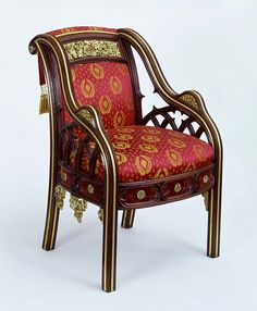 Armchair from Eaton Hall by A. Pugin, ca.1823 | The Victoria & Albert Museum