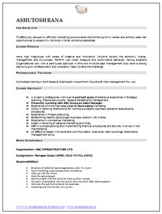 Sales And Marketing Resume Professional Curriculum Vitae  Resume Template For All Job