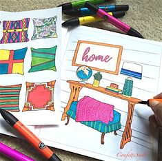 The Inspired Room Coloring Book - Interior Design Coloring Book