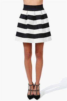 Classic Bandage Skirt in Black/Ivory.... add a blazer in mustard yellow and wear in business!!!