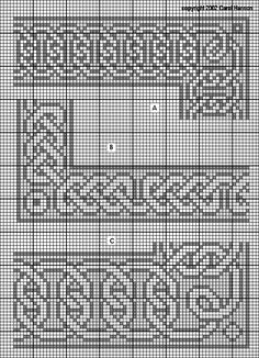 Celtic Knot Granny Squares Patterns   celtic knotwork double knot border medium 21 high with 8 repeat ...
