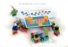 LEGO® Party Favor Set of 15 Birthday Party party by GEEKSWAGG