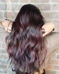 Color melt from dark to red with a hint of violet, done by yours truly Glen Ellyn Illinois, Color Melting, Fashion Colours, Salons, Spa, Long Hair Styles, Photo And Video, Brunettes, Beauty