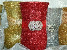 Wedding Centerpiece Wedding Decoration Silver Red by KPGDesigns, $29.00 Gold Wedding Centerpieces, Silver Wedding Decorations, Prom Decor, Table Centerpieces, Red Silver Wedding, Silver Weddings, 50th Wedding Anniversary, Anniversary Parties, Bling Cakes