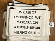 mascara pouch. $15.00, via Etsy.