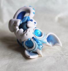 Bitty White and Blue Baby Dragon by BittyBiteyOnes.deviantart.com on @DeviantArt