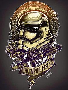 """""""The Empire Rises"""" by Star Wars stormtrooper design Star Wars Fan Art, Star Wars Film, Star Trek, Hero Marvel, Star Wars Tattoo, Bd Comics, Star War 3, Love Stars, Geek Art"""