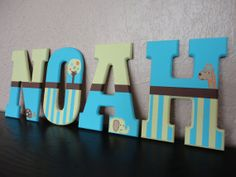 Hand Painted Wooden Letters Summer Infant Giggle by WallApproved