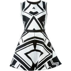 Philipp Plein Fatality Dress ($1,189) ❤ liked on Polyvore featuring dresses, black, round neck black dress, kohl dresses, black circle skirt, round neck dress and black sleeveless dress
