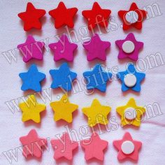 1000PCS/LOT.Mixed color wood star stickers,18mm.Kids toys,scrapbooking kit,Early educational DIY.Kindergarten crafts.Classic toy