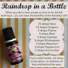I love the Raindrop technique, and this idea just makes it so much easier! Young Living essential oils are such a godsend! Thank you to Bison Creek Oils for sharing this graphic! Yl Oils, Yl Essential Oils, Young Living Essential Oils, Essential Oil Blends, Raindrop Technique, Massage Techniques, Massage Tips, Massage Therapy, Living Essentials