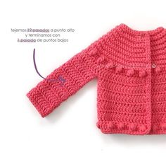Risultati immagini per ganchillo crochet nina 5 años Crochet Girls, Crochet For Kids, Diy Crochet, Crochet Baby Dress Pattern, Crochet Patron, Dress With Cardigan, Baby Crafts, Baby Knitting, Handmade