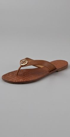 e947c9d42227d Tory Burch - Brown Thora Leopard Patent Sandals - Lyst