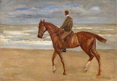 Liebermann, Max 1847 Berlin - 1935 Berlin Reiter am Strand. Signiert. Datiert 1900. Öl/Lwd./Malk