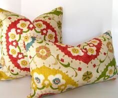 Decorative Pillow Cover  Suzani  12x20 inches  Blue   by Loubella1, $30.00