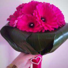 Modern - Gerbera Hand Tied Bouquet