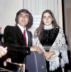 The italian singer Al Bano, born Albano Carrisi, with his girlfriend, the american singer Romina Power. 1968 Get premium, high resolution news photos at Getty Images Tyrone Power, Two Daughters, American Singers, 70s Fashion, Still Image, Horror Movies, Couple Goals, Girlfriends, Presentation