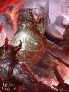 Artist: Yang Mansik aka yam8417 - Title: hero enia3 adv - Card: Glorious Heroic Tale (Mythic)