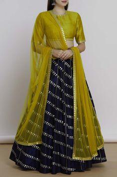 Shop Priyal Prakash Embellished Lehenga Set , Exclusive Indian Designer Latest Collections Available at Aza Fashions Half Saree Designs, Choli Designs, Kurta Designs Women, Lehenga Designs, Blouse Designs, Dress Designs, Half Saree Lehenga, Lehnga Dress, Lehenga Style