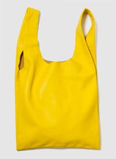Baggu Medium Leather Bag - Citron