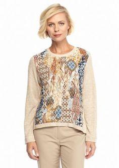Alfred Dunner  Petite El Dorado Skin Texture Knit Shirt