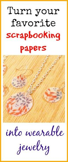Neat idea for paper scraps --> How to resin papers and make them into jewelry