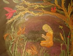 """""""It is so pleasant to explore nature and oneself at the same time, neither to force nature nor the own spirit, but bringing both into balance in gentle, mutual interaction."""" Johann Wolfgang von Goethe.  Blackboard made at the Great Barrington Rudolf Steiner School"""