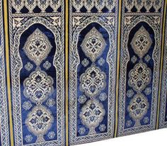 Old hanging wall panel of brocaded silk. [$3,750.00]