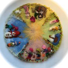 Waldorf Kindergarten, Felt Toys, Felt Art, Needle Felting, Wedding Centerpieces, Montessori, Seasons, Wool, Projects