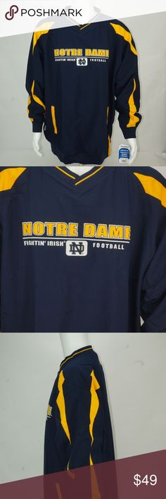 best loved 8347d 9816e MENS RUSSELL ATHLETIC NOTRE DAME PULLOVER NWT MENS RUSSELL ATHLETIC NCAA  TEAM ISSUED NOTRE DAME PULL