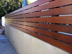 Seven Simple Yet Innovative Ideas For Your Garden - Stewart Timber Backyard Fences, Backyard Landscaping, Horizontal Slat Fence, Cinder Block Walls, Outdoor Doors, Outdoor Lighting, Compound Wall, Timber Slats, Front Yard Fence