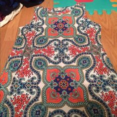 Charter Club size 1x dress paisley Excellent condition. Worn once for wedding Charter Club Dresses Midi