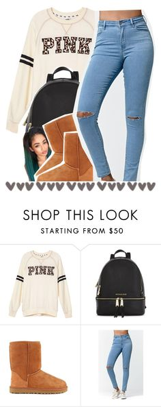 """""""Hands up, everybody run Cole outside and he say he got a gun dudes like """"man that's what everybody say"""" Go and pop the trunk and everybody dead"""" by sunnyhere7111 ❤ liked on Polyvore featuring Victoria's Secret PINK, Michael Kors, UGG Australia and Bullhead Denim Co."""