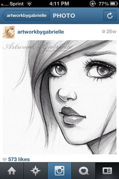 "This artist.her DeviantART accoutn is this piece is simply ""sketchbook drawing"" .all she needed was a mechanical pencil I love all her random female characters in this style! Beautiful Drawings, Cool Drawings, Pencil Drawings, Drawing Faces, Sketches Of Faces, Cartoon Drawings Of Girls, Sad Girl Drawing, Heart Drawings, Drawing Cartoons"