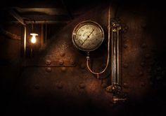 steampunk basement | Mike Savad › Portfolio › Steampunk - Boiler Gauge