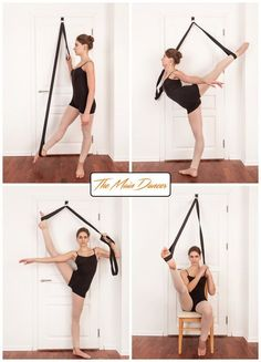 Stretch Band Home Stretch Ballet Equipment Dance Gymnastic Exercise Kickboxing Stretch Leg Door Strap Ballet Dance Flexibility Yoga Fitness, Fitness Workouts, Fun Workouts, Fitness Tips, Physical Fitness, Fitness Planner, Workout Routines, Fitness Nutrition, Ballet Fitness