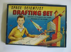 Space Scientist Drafting Set. Precision instruments for young engineers of the…