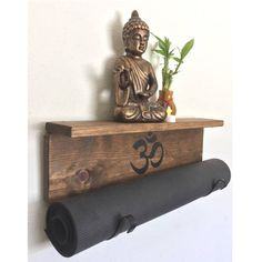 Hang your #yogamat and display your #yogaaccessories on this handmade, wooden display  A personal favorite from my Etsy shop https://www.etsy.com/listing/253827256/black-yoga-handmade-black-yoga-mat