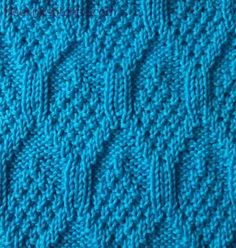 knit and purl stitch patterns Pine Cone.lots of free knitting stitch how-to's here! Knit Purl Stitches, Knitting Stiches, Knitting Charts, Lace Knitting, Stitch Patterns, Knitting Patterns, Scarf Patterns, How To Purl Knit, Knitting Designs