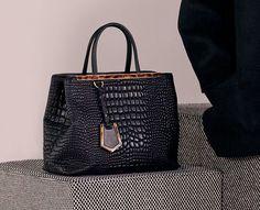 Fendi Black Crocodile 2Jours Bag Sooo pretty i can't breathe ))