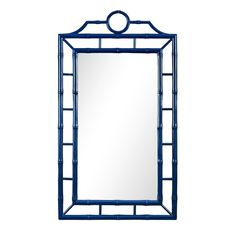 The Chloe Collection is hand crafted of solid mahogany in the Chinoiserie taste of Thomas Chippendale. The pretty, windowpane back features graduated faux bamboo fretwork with a rounded top and straight bottom. Other great details include faux bamboo seat Bamboo Mirror, Bamboo Bathroom, Mirror Art, Vanity Mirrors, Wall Mirrors, Mirror Ideas, Blue Mirrors, Hallway Mirror, Upstairs Hallway