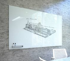 Glass Whiteboard and Glass Dry Erase Boards from Clarus Glassboards in Boston and New England — BKL Rep New England Office Space Design, Office Interior Design, Office Interiors, Office Fit Out, Cool Office, Office Ideas, Marker Board, Whiteboard, Dry Erase Board
