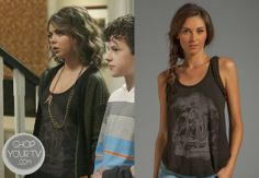 Hayley Dunphy (Sarah Hyland) wears this ship print tank top with braided trim in this week's episode of Modern Family.