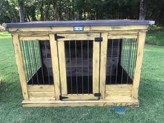Sunshine!  This indoor dog kennel is distressed Sun Salutation.  Add a lot of color and a bit of farmhouse!  We build them for all sizes!